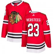 Adidas Chicago Blackhawks 23 Kris Versteeg Authentic Red Home Men's NHL Jersey