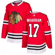 Adidas Chicago Blackhawks 17 Kenny Wharram Authentic Red Home Men's NHL Jersey