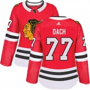 Adidas Chicago Blackhawks 77 Kirby Dach Authentic Red Home Women's NHL Jersey