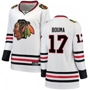 Fanatics Branded Chicago Blackhawks 17 Lance Bouma White Breakaway Away Women's NHL Jersey