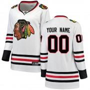 Fanatics Branded Chicago Blackhawks 00 Custom White Breakaway Away Women's NHL Jersey