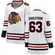 Fanatics Branded Chicago Blackhawks 63 Carl Dahlstrom White Breakaway Away Women's NHL Jersey