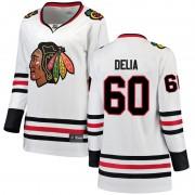 Fanatics Branded Chicago Blackhawks 60 Collin Delia White Breakaway Away Women's NHL Jersey