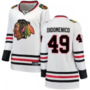 Fanatics Branded Chicago Blackhawks 49 Christopher DiDomenico White Breakaway Away Women's NHL Jersey