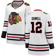 Fanatics Branded Chicago Blackhawks 12 Jake Dowell White Breakaway Away Women's NHL Jersey