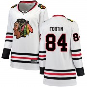 Fanatics Branded Chicago Blackhawks 84 Alexandre Fortin White Breakaway Away Women's NHL Jersey