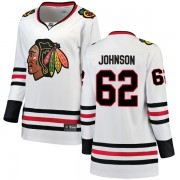 Fanatics Branded Chicago Blackhawks 62 Luke Johnson White Breakaway Away Women's NHL Jersey