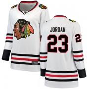Fanatics Branded Chicago Blackhawks 23 Michael Jordan White Breakaway Away Women's NHL Jersey