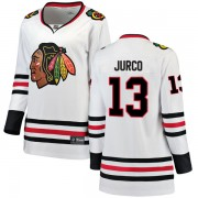 Fanatics Branded Chicago Blackhawks 13 Tomas Jurco White Breakaway Away Women's NHL Jersey