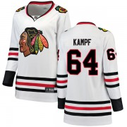 Fanatics Branded Chicago Blackhawks 64 David Kampf White Breakaway Away Women's NHL Jersey