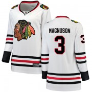 Fanatics Branded Chicago Blackhawks 3 Keith Magnuson White Breakaway Away Women's NHL Jersey