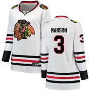 Fanatics Branded Chicago Blackhawks 3 Dave Manson White Breakaway Away Women's NHL Jersey