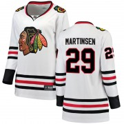 Fanatics Branded Chicago Blackhawks 29 Andreas Martinsen White Breakaway Away Women's NHL Jersey
