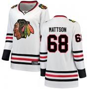 Fanatics Branded Chicago Blackhawks 68 Nick Mattson White Breakaway Away Women's NHL Jersey