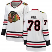 Fanatics Branded Chicago Blackhawks 78 Nathan Noel White Breakaway Away Women's NHL Jersey