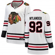 Fanatics Branded Chicago Blackhawks 92 Alexander Nylander White Breakaway Away Women's NHL Jersey