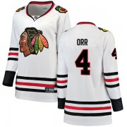 Fanatics Branded Chicago Blackhawks 4 Bobby Orr White Breakaway Away Women's NHL Jersey