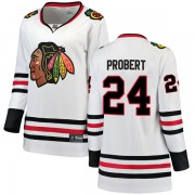 Fanatics Branded Chicago Blackhawks 24 Bob Probert White Breakaway Away Women's NHL Jersey