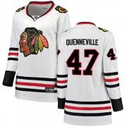 Fanatics Branded Chicago Blackhawks 47 John Quenneville White ized Breakaway Away Women's NHL Jersey