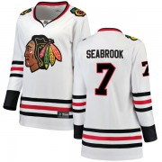 Fanatics Branded Chicago Blackhawks 7 Brent Seabrook White Breakaway Away Women's NHL Jersey