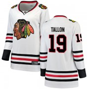 Fanatics Branded Chicago Blackhawks 19 Dale Tallon White Breakaway Away Women's NHL Jersey