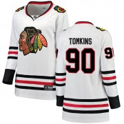 Fanatics Branded Chicago Blackhawks 90 Matt Tomkins White Breakaway Away Women's NHL Jersey