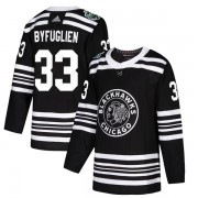 Adidas Chicago Blackhawks 33 Dustin Byfuglien Authentic Black 2019 Winter Classic Youth NHL Jersey