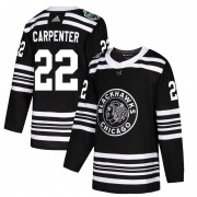 Adidas Chicago Blackhawks 22 Ryan Carpenter Authentic Black 2019 Winter Classic Youth NHL Jersey