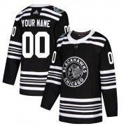 Adidas Chicago Blackhawks 00 Custom Authentic Black 2019 Winter Classic Youth NHL Jersey