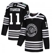 Adidas Chicago Blackhawks 11 Cody Franson Authentic Black 2019 Winter Classic Youth NHL Jersey