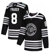 Adidas Chicago Blackhawks 8 Curt Fraser Authentic Black 2019 Winter Classic Youth NHL Jersey