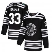 Adidas Chicago Blackhawks 33 Dirk Graham Authentic Black 2019 Winter Classic Youth NHL Jersey