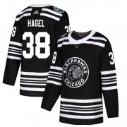 Adidas Chicago Blackhawks 38 Brandon Hagel Authentic Black 2019 Winter Classic Youth NHL Jersey