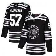 Adidas Chicago Blackhawks 57 Kenton Helgesen Authentic Black 2019 Winter Classic Youth NHL Jersey