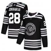 Adidas Chicago Blackhawks 28 Henri Jokiharju Authentic Black 2019 Winter Classic Youth NHL Jersey