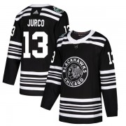 Adidas Chicago Blackhawks 13 Tomas Jurco Authentic Black 2019 Winter Classic Youth NHL Jersey
