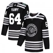 Adidas Chicago Blackhawks 64 David Kampf Authentic Black 2019 Winter Classic Youth NHL Jersey