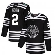 Adidas Chicago Blackhawks 2 Duncan Keith Authentic Black 2019 Winter Classic Youth NHL Jersey