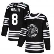 Adidas Chicago Blackhawks 8 Dominik Kubalik Authentic Black 2019 Winter Classic Youth NHL Jersey