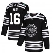 Adidas Chicago Blackhawks 16 Chico Maki Authentic Black 2019 Winter Classic Youth NHL Jersey