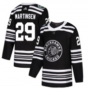 Adidas Chicago Blackhawks 29 Andreas Martinsen Authentic Black 2019 Winter Classic Youth NHL Jersey