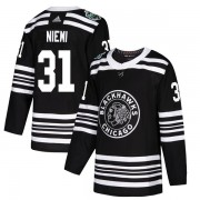 Adidas Chicago Blackhawks 31 Antti Niemi Authentic Black 2019 Winter Classic Youth NHL Jersey