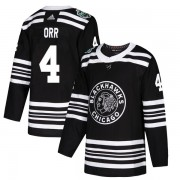 Adidas Chicago Blackhawks 4 Bobby Orr Authentic Black 2019 Winter Classic Youth NHL Jersey