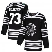 Adidas Chicago Blackhawks 73 Will Pelletier Authentic Black 2019 Winter Classic Youth NHL Jersey