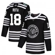 Adidas Chicago Blackhawks 18 Darcy Rota Authentic Black 2019 Winter Classic Youth NHL Jersey