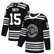 Adidas Chicago Blackhawks 15 Zack Smith Authentic Black 2019 Winter Classic Youth NHL Jersey