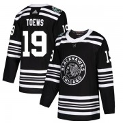 Adidas Chicago Blackhawks 19 Jonathan Toews Authentic Black 2019 Winter Classic Youth NHL Jersey