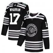Adidas Chicago Blackhawks 17 Kenny Wharram Authentic Black 2019 Winter Classic Youth NHL Jersey