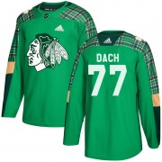 Adidas Chicago Blackhawks 77 Kirby Dach Authentic Green St. Patrick's Day Practice Men's NHL Jersey