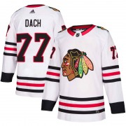 Adidas Chicago Blackhawks 77 Kirby Dach Authentic White Away Men's NHL Jersey